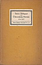 Österreichische Gedichte by Anton Wildgans