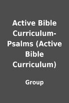 Active Bible Curriculum-Psalms (Active Bible…