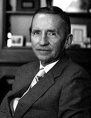 Author photo. Ross Perot, in his office
