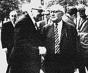 Author photo. From <a href=&quot;http://de.wikipedia.org/wiki/Bild:Adorno-Horkheimer.JPG&quot;>Wikipedia</a>,  Horkheimer (front left), in 1965 at Heidelberg.