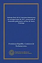Informe final de la comisión dominicana de…