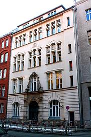 """Author photo. Leo-Baeck Haus, Berlin. Headquarters of the """"Zentralrat der Juden in Deutschland"""""""