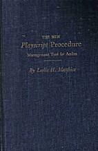 New Playscript Procedure: Management Tool…