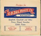 Recipes for G. D. Del Rossi Co. macaroni ;…