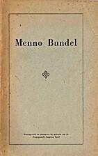 Menno Bundel : Een algemene oriëntatie over…