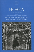 Hosea : a new translation with introduction…