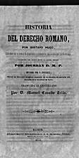Historia del derecho romano by Gustavo Hugo