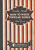 Inside Stuff on How to Write Popular Songs…