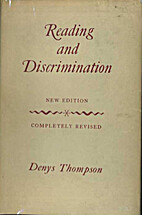 Reading and discrimination by Denys Thompson