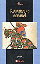 Romancero espanol by Varis autors