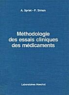 Méthodologie des essais cliniques des…