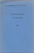 Bibliography in Britain (Oxford)