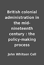 British colonial administration in the…