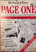 Page one : major events, 1920-1980, as…