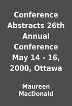Conference Abstracts 26th Annual Conference…