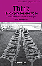 Think, Philosophy for Everyone (Vol 9 Number…