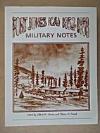 Fort Jones (Ca 1852-1858 : Military Notes)…