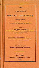 The American Frugal Housewife by Lydia Maria…