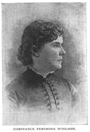 Author photo. Miss Constance Fenimore Woolson (1840-1894), Buffalo Electrotype and Engraving Co., Buffalo, N.Y.