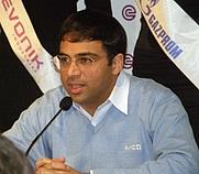 Author photo. Viswanathan Anand. World Chess Championship 2008. News conference.