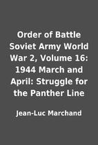 Order of Battle Soviet Army World War 2,…