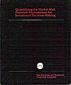 Quantifying the Market Risk Premium…