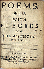 Poems, by J.D. With elegies on the authors…