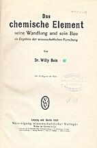 Der chemische Element seine Wandlung und…