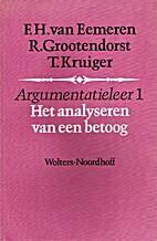 Argumentatieleer. 1: Het analyseren van een…