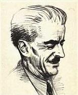 Author photo. Edouard Perroy caricaturé sur la couverture de son livre 'Le Moyen Age' Paru dans la collection Quadrige chez Les Presses Universitaires de France