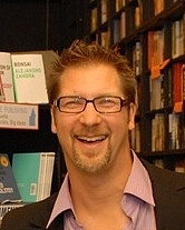 Author photo. Photo at book signing