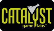 Author photo. Catalyst Games Labs Logo
