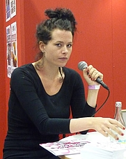 Author photo. Liv Strömquist at Bokmässan in Göteborg 2009