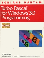 TURBO PASCAL FOR WINDOWS 3.0 P (Borland…