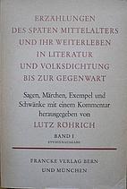 Erzählungen des späten Mittelalters und…