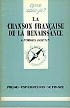 La chanson française de la Renaissance by…