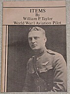 Items: William Taylor World War One Aviation…