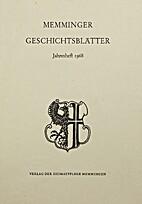 Memminger Geschichtsblätter Jahresheft 1968