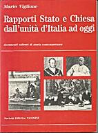 Rapporti Stato e Chiesa dall'unità d'Italia…