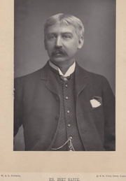 Author photo. Bret Harte taken and published about 1895 by W & D Downey of Ebury St, London.