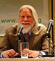 Author photo. Whitfield Diffie at the 2007 Computers, Freedom, and Privacy conference [credit: Simon Law from Montréal, QC, Canada]