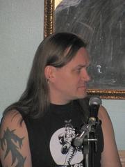 Author photo. Petri Hiltunen at Necrocomicon 2008 in Turku, Finland.