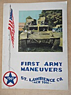Souvenir of the First Army Maneuvers. The…