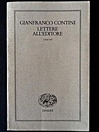 Lettere all'editore 1945-54 by Gianfranco…