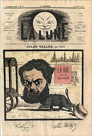Author photo. Cover of La Lune 11 July 1867