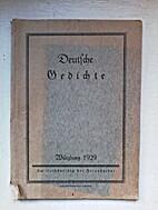 Deutsche Gedichte by Dr. Heinrich Wagner