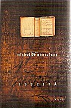 Esseitä by Michel de Montaigne