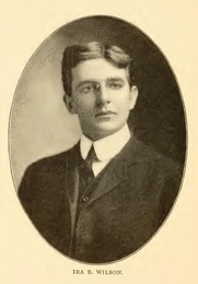 Author photo. Ira B. Wilson. Portrait from page 412 of Biography of Gospel song and hymn writers (1914) by Jacob Henry Hall