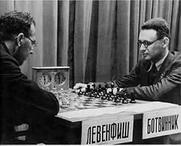 Author photo. Levenfish and Botvinnik, match 1937