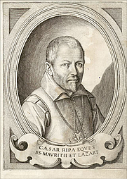 Author photo. Engraving from 1613 edition of Ripa's Iconologia